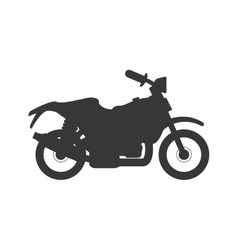 motorcycle motor motorbike transportation icon vector image