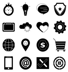 General icons on white background vector