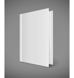 White book template with vector