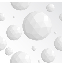 Abstract white sphere seamless pattern vector image