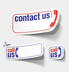 contact labels vector image