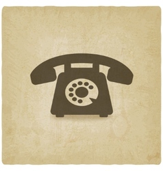 Retro phone old background vector