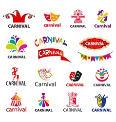 Big set of logos carnival vector