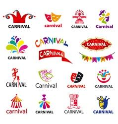big set of logos carnival vector image