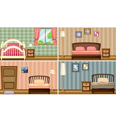 bedrooms vector image