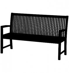 Garden bench vector