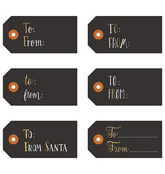 Vintage christmas gift tags vector