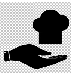 Chef cap sign vector