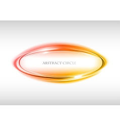 abstract circle on white red vector image