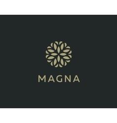 Abstract elegant tree leaf flower logo icon design vector