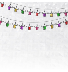 Garland of colored paper lanterns vector