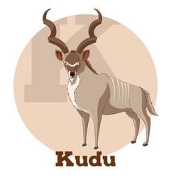 abc cartoon kudu vector image