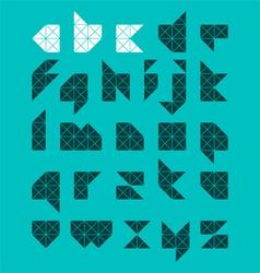 Abstract alphabet vector