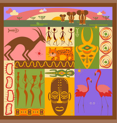 african ethnic vector image