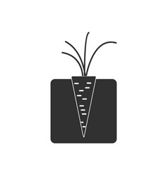 Black icon on white background turnips in the vector