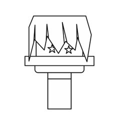 Box magic icon outline style vector