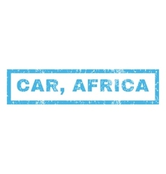 Car africa rubber stamp vector