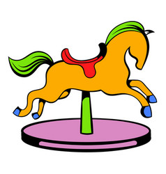 Carousel horse icon icon cartoon vector