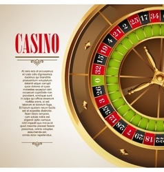 Casino logo poster background or flyer vector image