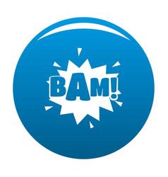 Comic boom bam icon blue vector