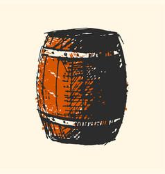 craft beer wooden barrel pub sketch vector image vector image