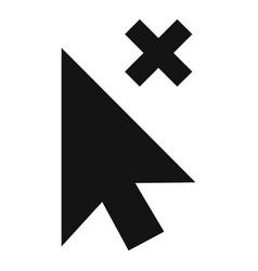cursor close element icon simple black style vector image