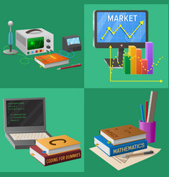 Devices for educational activities vector
