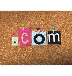 Dotcom concept vector