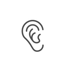 ear line icon vector image vector image