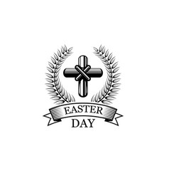 easter day crucifix religious holiday icon vector image vector image