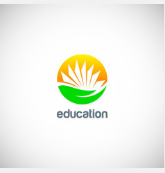 education knowledge book logo vector image