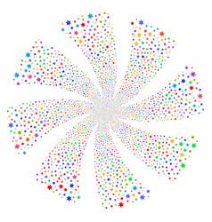 Fireworks star fireworks swirl flower vector