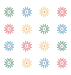 Girlish floral notebook cover vector