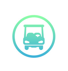golf car icon on white vector image vector image