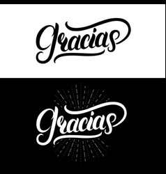 gracias hand written lettering vector image