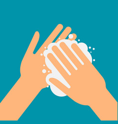 please wash your hands vector image vector image