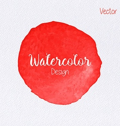 rainbow color watercolor paint stain vector image