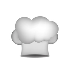 Realistic silhouette of chefs hat in shape cloud vector