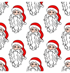 Santa Claus seamless pattern for christmas vector image vector image
