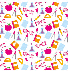 school accessories supply and element seamless vector image