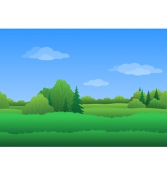 Seamless background summer landscape vector image vector image