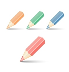 set pencils vector image vector image