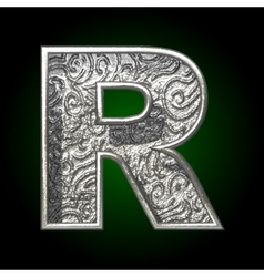 silver cutted figure r vector image