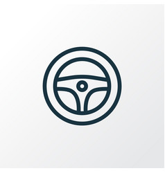 Steering wheel outline symbol premium quality vector