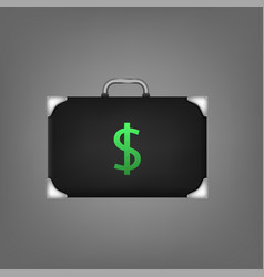 suitcase with dollar sign vector image