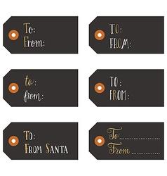 Vintage christmas gift tags vector