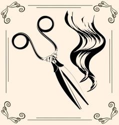 vintage scissors vector image vector image