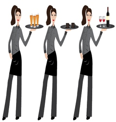 waitress vector image vector image