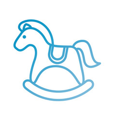 Wooden toy horse animal traditional object vector