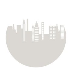 Cityscape silhouette isolated icon vector